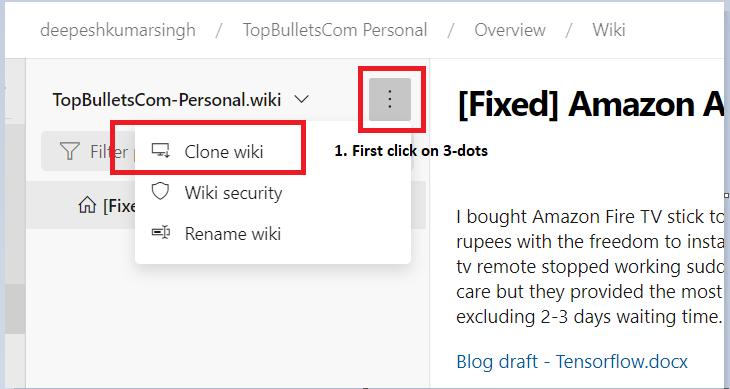 Repo wiki clone